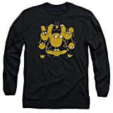 Adventure Time Jakes Unisex Adult Long-Sleeve T Shirt for Men and Women, Large Black