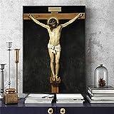 Pintura de diamante bricolaje Punto de Cruz Diamante Kit Completo para Niños, Diamond Art para Decoración Cristo crucificado famoso(30x40) CM