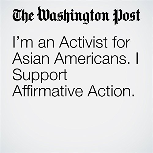 I'm an Activist for Asian Americans. I Support Affirmative Action. copertina