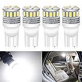 Pack de 4 T10 194 168 2825 Blanc 12V-24V 18SMD 3014 Ampoule LED de pour Voiture pour Dôme de Carte pour Plaque D'immatriculation de Tableau