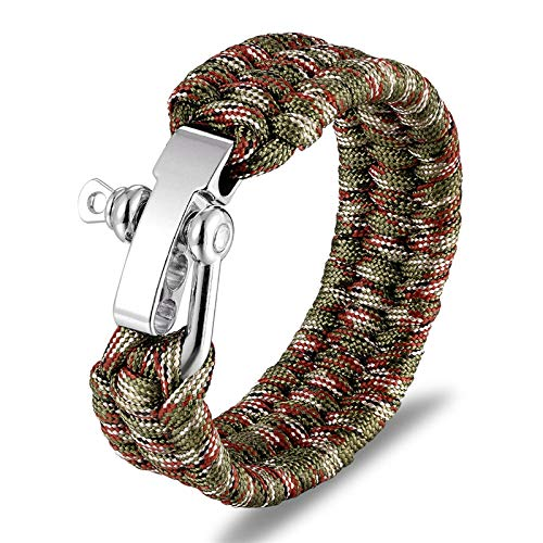 yqs SCM417 Bracelet de survie multifonction pour homme avec couteau pour femme