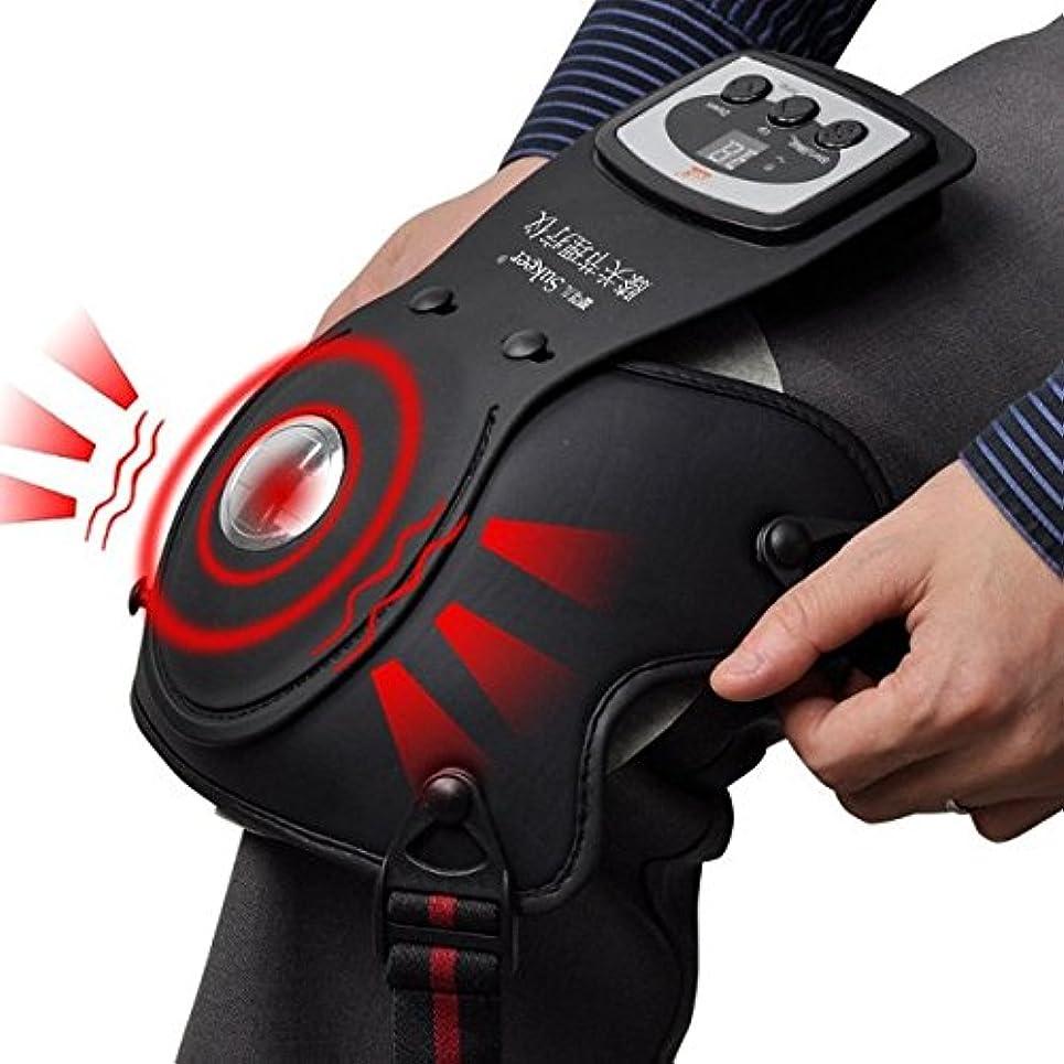 ねばねば騒ヘルメット膝関節加熱マッサージ 家庭用治療器(遠赤外線 / 赤外線 / 肘、膝関節痛、大腿、脛筋肉痛)LuckyFine 膝 治療器 膝マッサージ