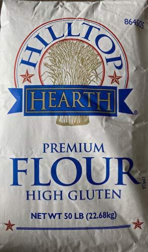 Hilltop Hearth Premium High Gluten Flour, Bleached, 50lb