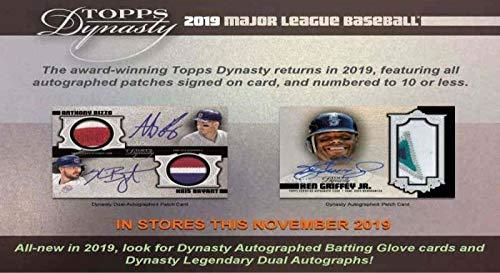 2019 Topps Dynasty Baseball Hobby Box (1 Pack/1 Card: 1 Hit)