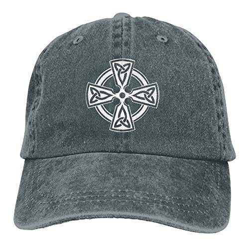 Mens Cotton Washed Twill Baseball Cap Celtic Cross Knot Irish Shield Warrior Hat