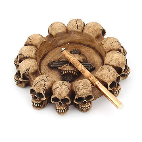 Mopoq Cráneo de cráneo Personalizado Cenicero Cenillero Cenicero Cenicero transfronterizo Creativo Decoración para el hogar Artesanía de Resina