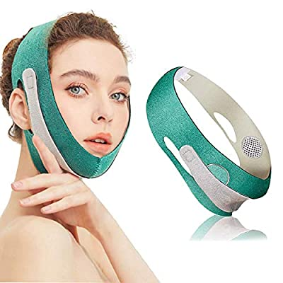 Face Slimming Strap, Facial Weight Lose Device Double Chin Lifting Belt, V Line Face Lifting Belt Double Chin Reducer, for Anti Wrinkle Eliminates Sagging Anti Aging Breathable Face Shaper Band by Yibang