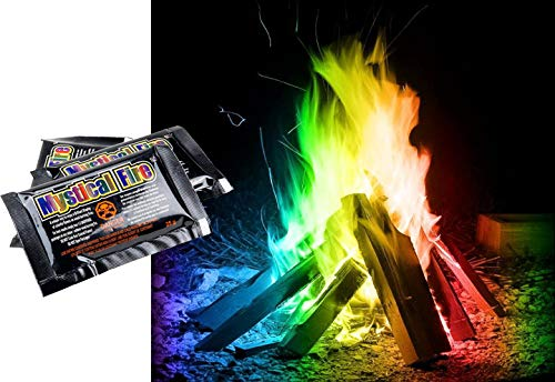 OSSIAN Mystical Rainbow Fire – Pack of 6 Sachets Magic Long Lasting Colour Changing Colourful Magical Flame Display Dust Powder - Perfect for Bonfires Fireplace Fire Pits Chimineas Wood Burner