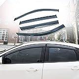 Xtrdye Deflectores de Viento para automóviles compatibles con Ford Focus (2005-2011), Visera Solar Visera Protectora contra la Lluvia y la Nieve (Paquete de 4)