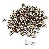 Atyhao 200 letras mixtas de madera A-Z/números de 0 a 9 para despintar DIY Decoations juguetes de aprendizaje temprano para niños (números #1)
