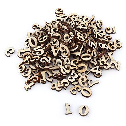 200pcs Mixte 0-9 Chiffres En Bois Alphabet Pour Artisanat Pendentifs Bricolage Affiche Enfants Jouets D'apprentissage Précoce