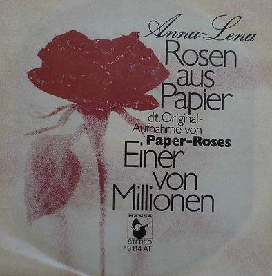 Rosen aus Papier (Paper roses) / Einer von Millionen / 13 114 AT