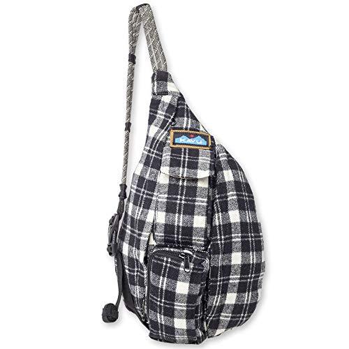 KAVU Mini Plaid Rope Bag Sling Crossbody Backpack Travel Cotton Purse -...