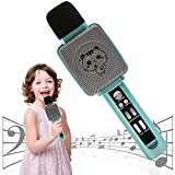 TRNSUNL Kids Karaoke Machine,Wireless Rechargeable Karaoke Machine for Girls with Echo and Voice Changer Speaker,Portable Microphone Toys for Kids,Best Birthday Gifts for 3-18Yrs Old Kids Girls.