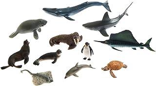 Marine animal creature sculpture sets Reproductions, Montessori Teaching Prop Wedding Decor 11pcs