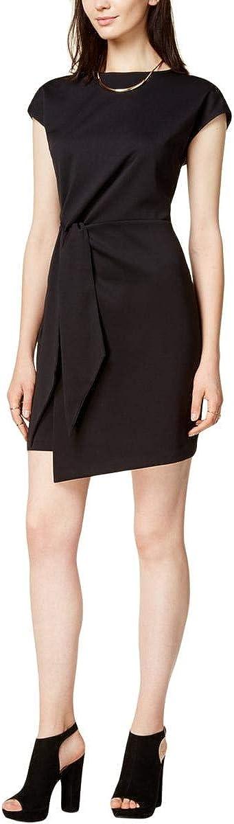 bar III Womens Tie Front Sheath Dress