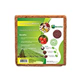Envelor Coco Coir Brick Potting Soil Mix 10 lbs. Coconut Fiber Substrate Organic Garden Soil Growing Media Indoor Outdoor Plants Herbs Flowers Succulents Microgreens Raised Garden Beds, 2.8 Cubic Ft.