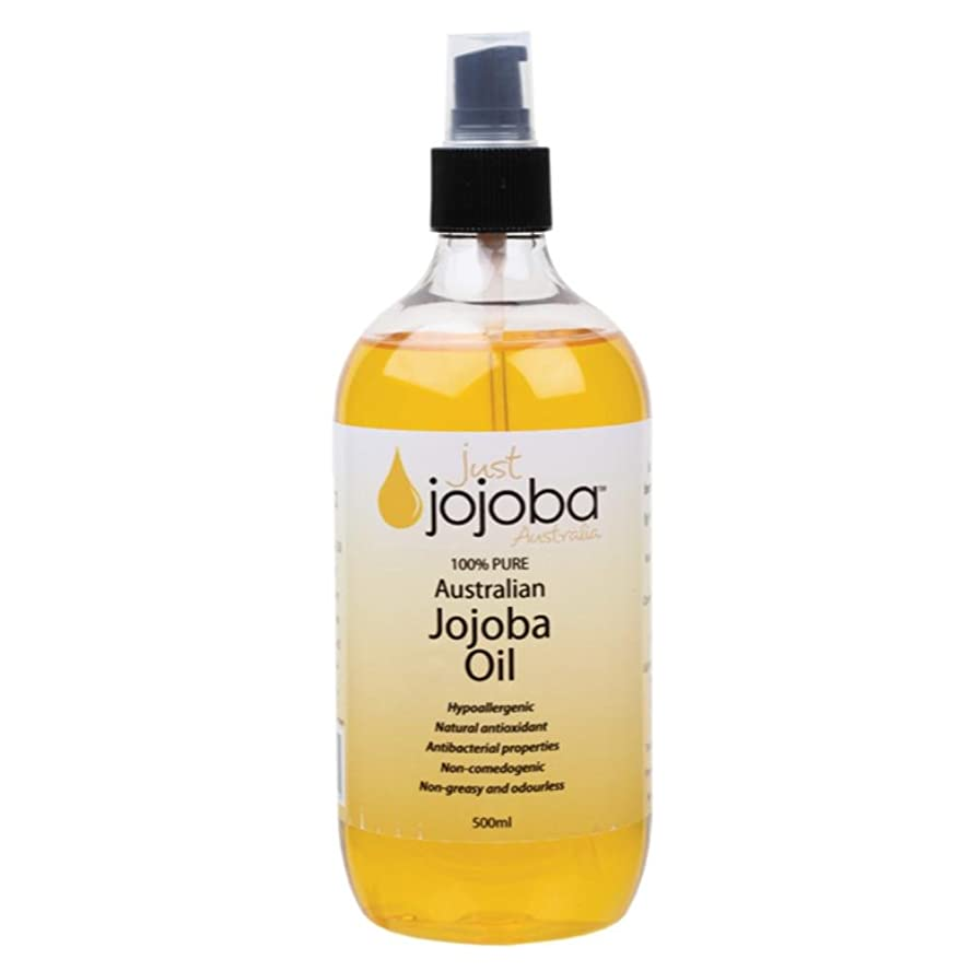沿ってサラダ裁判官[Just Jojoba Australia]ジャストホホバ 100%ピュア ゴールデンホホバオイル 500ml(海外直送品)