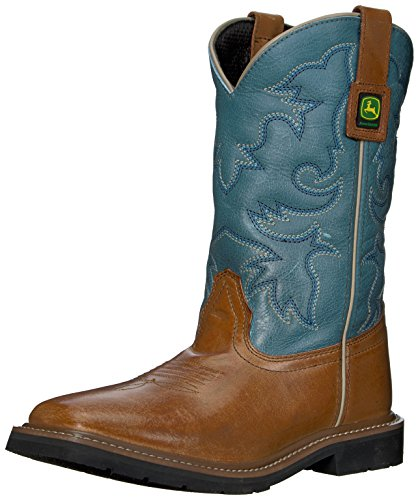 John Deere JD3244 Pull-On Boot (Big Kid), All Over Tan Mirage Leather, 5.5 M US Big Kid