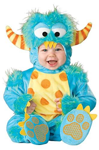 InCharacter Unisex Baby Monster Costume, Blue/Yellow/Orange, Medium