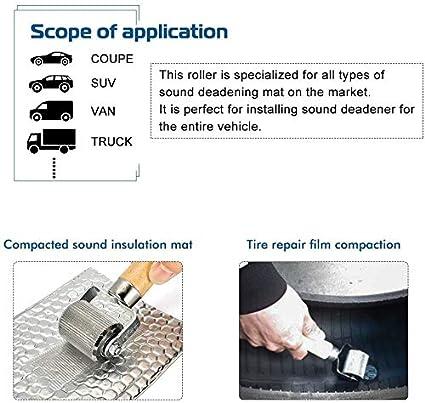 UNENDA Car Sound Deadening Roller Metal Installation Tool Seam Roller for Auto Noise Roller Car Sound Deadener Application Installation Tool Rolling Metal Wheel Interior Accessories 1PC-1.22inch