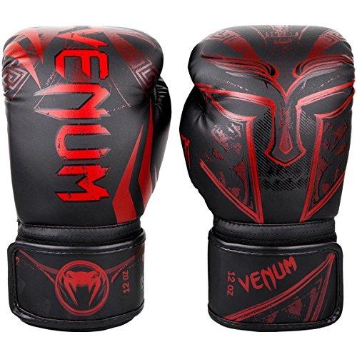 Venum Gladiator 3.0–Black/Red–Coole Guantes de Boxeo Guantes de Boxeo para Cajas MMA Kickboxing Sparring Muay Thai Cajas Entrenamiento, Color Negro, Tamaño 14oz