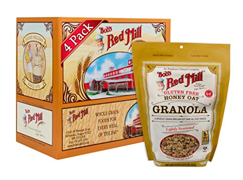 Bob's Red Mill Gluten Free Honey Oat Granola, 12 oz (Pack of 4, Resealable)
