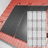SAXONICA - Riscaldamento a energia Solare per Piscine, riscaldatore HelioPool®, 4 x 4 Pezzi in Posizione Verticale, 19,2 mq