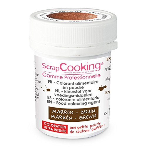 Colorant artificiel en poudre Marron, Scrapcooking