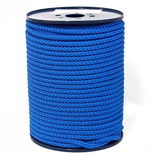 FTM Springseil Tau Seil, PP, Blau, Meterware von der Rolle, Ø 9mm für Fitness, Sport, Schule und Training (5 Meter)