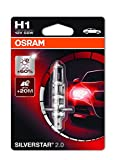 Osram SILVERSTAR 2.0 H1, Halogen-Scheinwerferlampe, 64150SV2-01B, 12V PKW, Einzelblister (1 Stück)