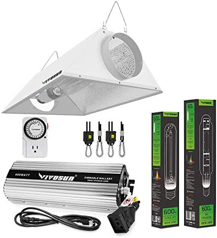 VIVOSUN Hydroponic 600 Watt HPS MH Grow Light Air Cooled Reflector Kit Easy to Set up High Stability product image