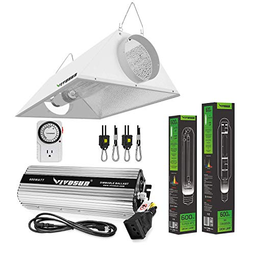 VIVOSUN Hydroponic 600 Watt HPS MH Grow Light Air Cooled