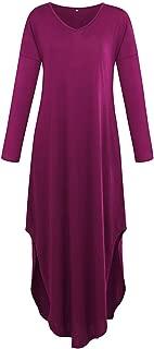 Cheryl Bull Fashion Women's Dress Autumn & Swing Party Dress Women's Casual Pocket Split Loose Maxi Dress