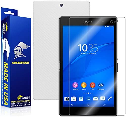 ArmorSuit MilitaryShield White Carbon Fiber Skin Wrap Film HD Clear Screen Protector for Sony product image