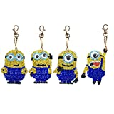 DIY Diamond Painting Keychains, Special Shaped Diamond Painting Ornaments Pendants, Small Diamond Art for Kids and Adult Beginners (4pcs)