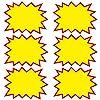 熱望する大胆な小売店の募金活動フリーマーケットのスターバースト価格記号を概説 - イエロー 100個入り - L: 20.32cm x 13.97cm