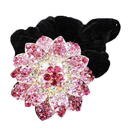 Mesdames Accessoires cheveux Elastics Elastiques strass bande de cheveux rose