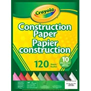 Crayola 120 Pages Construction Paper Pad, School and Craft Supplies, Teacher and Classroom Supplies, Gift for Boys and Girls, Kids, Ages 3,4, 5, 6 and Up, Stocking , Arts and Crafts,  Gifting
