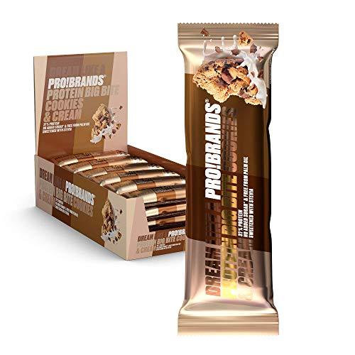 Probrands - Protein BAR BIGBITE Cookies & Cream - High Protein 37%, No Added Sugar, 45G x 24 PCS