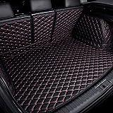 BEAGHTY Tapis De Coffre De Voiture Couverture ComplèTe pour Peugeot 308 2012 2013, Coussin De Rangement en Cuir Accessoires De Style De Voiture