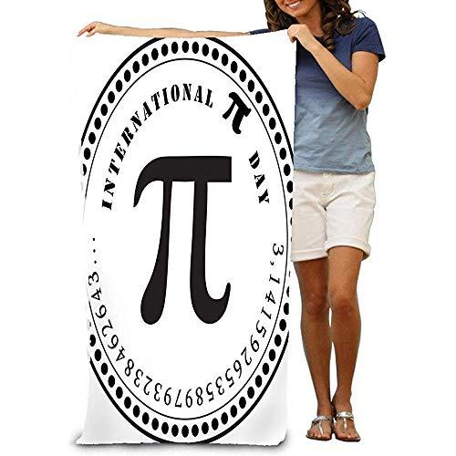 H&Mr.D Toalla De Baño Toalla De Playa Grande Y Suave Día Internacional del Pi Número Matemático Constante Sello Sello Día Internacional del Pi