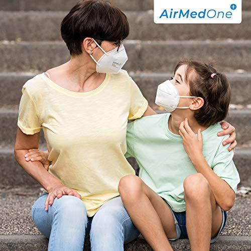 NEU: FFP2 Atemschutzmaske mit offiziellem Zertifikat CE2163, Mundschutz Maske 5-lagig [20 Stück] 3D Gesichtsmaske faltbar - 5