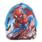 Gorra de béisbol con diseño de Spiderman de Marvel para niños ET4027 con espalda ajustable de 3 a 8 años Azul azul 52 cm