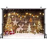 AIIKES 8x6FT Fondo de fotografía de Navidad Fondo de decoración de árbol de Navidad Fondo de Foto de Navidad de bebé Fondo de Fiesta Familiar Fondo de fotografía de Estudio 10-822