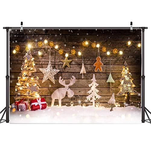 AIIKES 7x5FT Fondo de fotografía de Navidad Fondo de decoración de árbol de Navidad Fondo de Foto de Navidad de bebé Fondo de Fiesta Familiar Fondo de fotografía de Estudio 10-822
