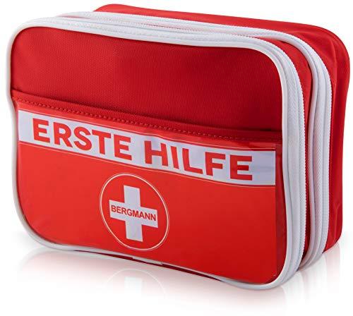 Erste Hilfe Set, deutschsprachig + Wärmekissen【gratis】Notfall-spezifischer Inhalt - handlich, fachlich sortiert - Wandern, Reise, Zuhause, Büro, Outdoor