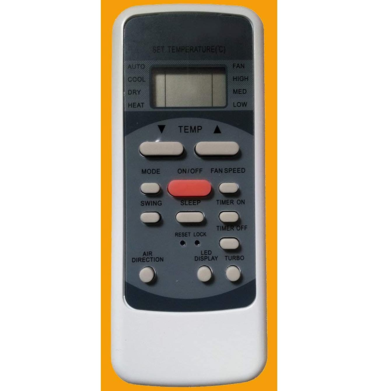 YING RAY Replacement for Heat Controller Comfort-aire Comfort aire Air Conditioner Remote Control B-VMH09SC-1 B-VMH12SC-1 B-VMH18SC-1 B-VMH24SC-1 B-VMH30SC-1 B-VMH36SC-1 (Display in Celsius)
