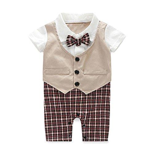kingko® garçons bébé formel de costume Parti Baptême mariage Tuxedo Waistcoat Bow Tie (24M)