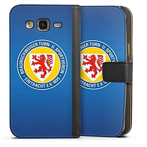 DeinDesign Tasche kompatibel mit Samsung Galaxy J5 (2015) Leder Flip Case Ledertasche Offizielles Lizenzprodukt Eintracht Braunschweig Fußball